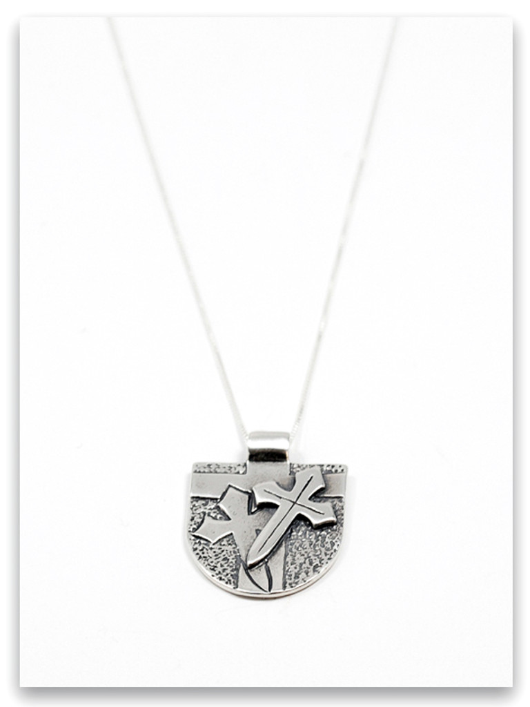 Armor of God Sterling Silver Pendant Necklace