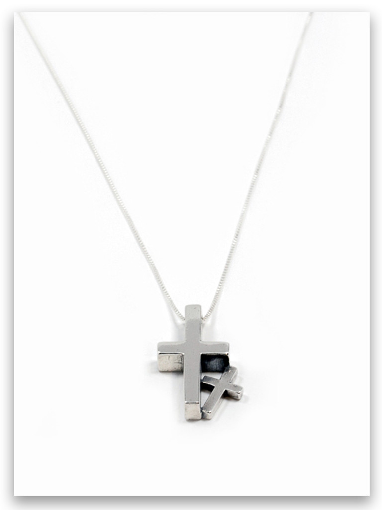 Daddy & Me Sterling Silver Pendant Necklace