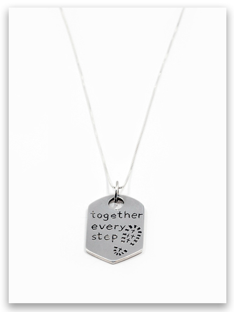 Every Step Sterling Silver Pendant Necklace