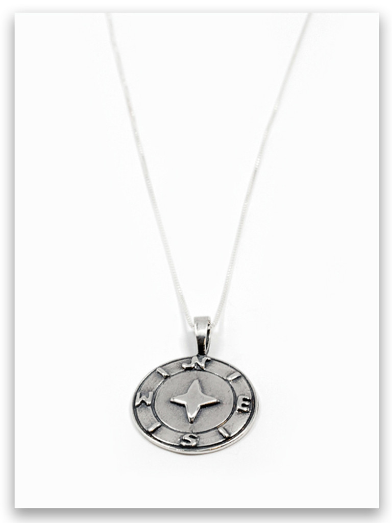 One Guide Sterling Silver Pendant Necklace