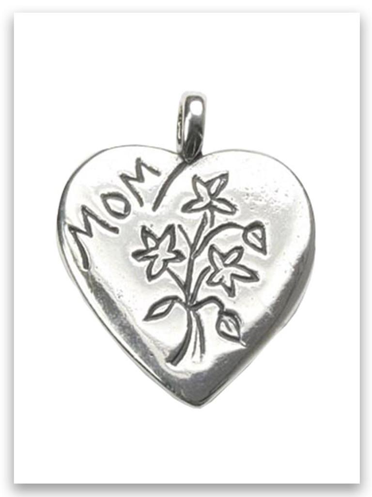 Sterling Silver Mom Pendant