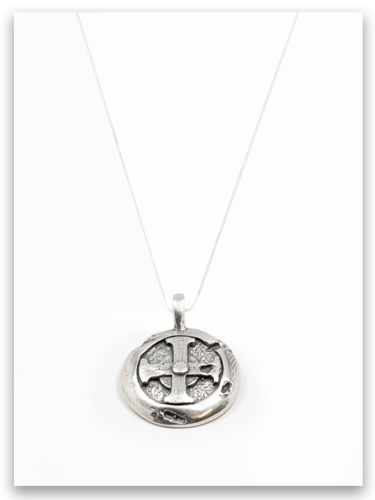 Hoplon Shield Sterling Silver Pendant Necklace