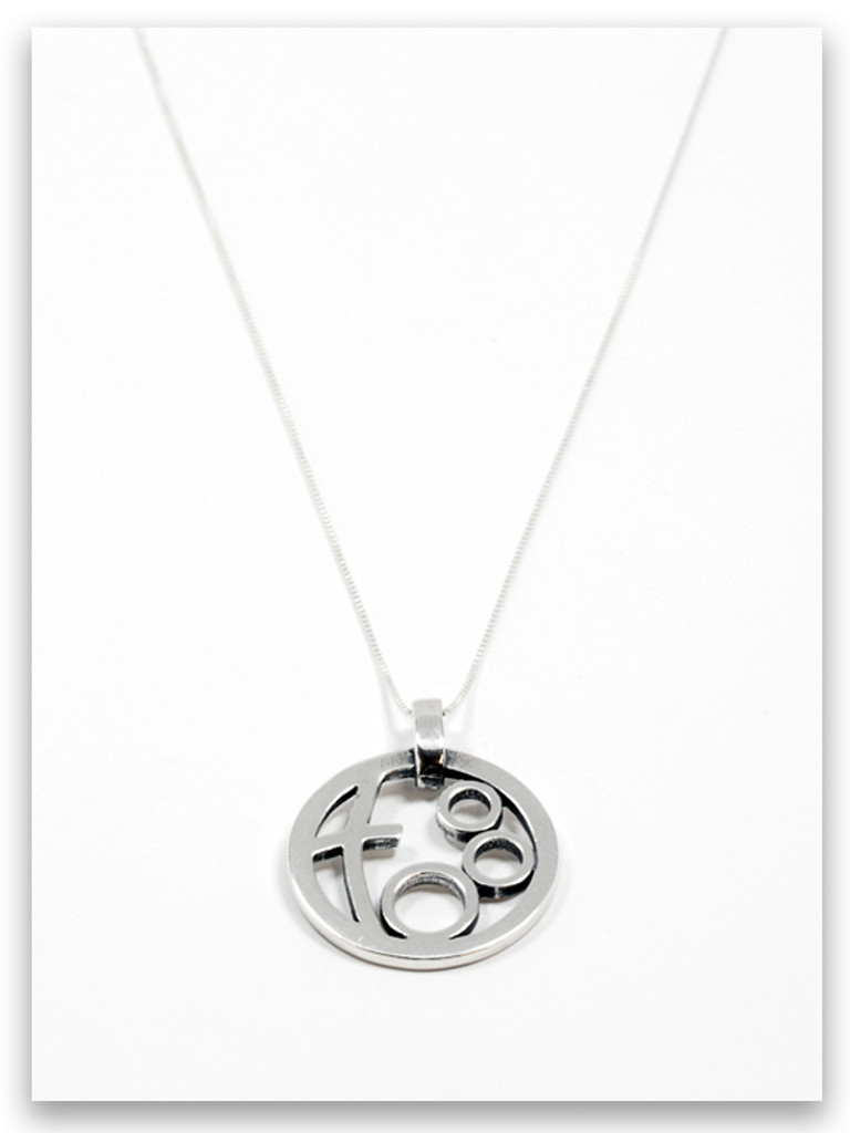 Circle of Love Sterling Silver Mother Pendant Necklace- 3 Children