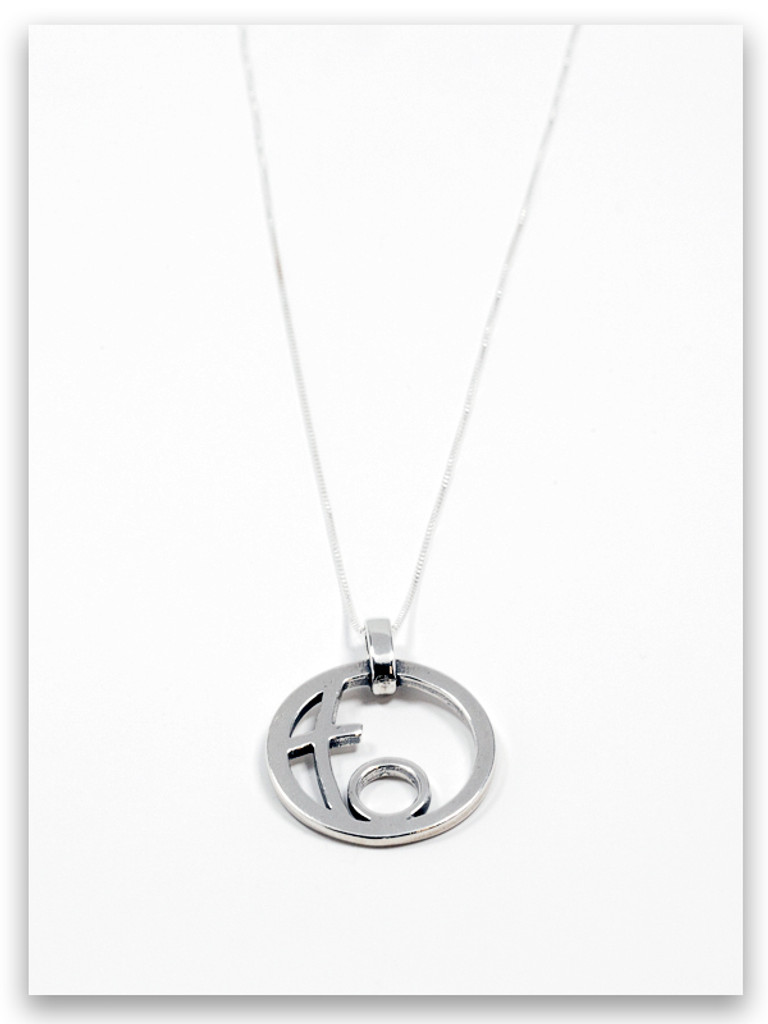Circle of Love Sterling Silver Grandmother Pendant Necklace- 1 Grandchild