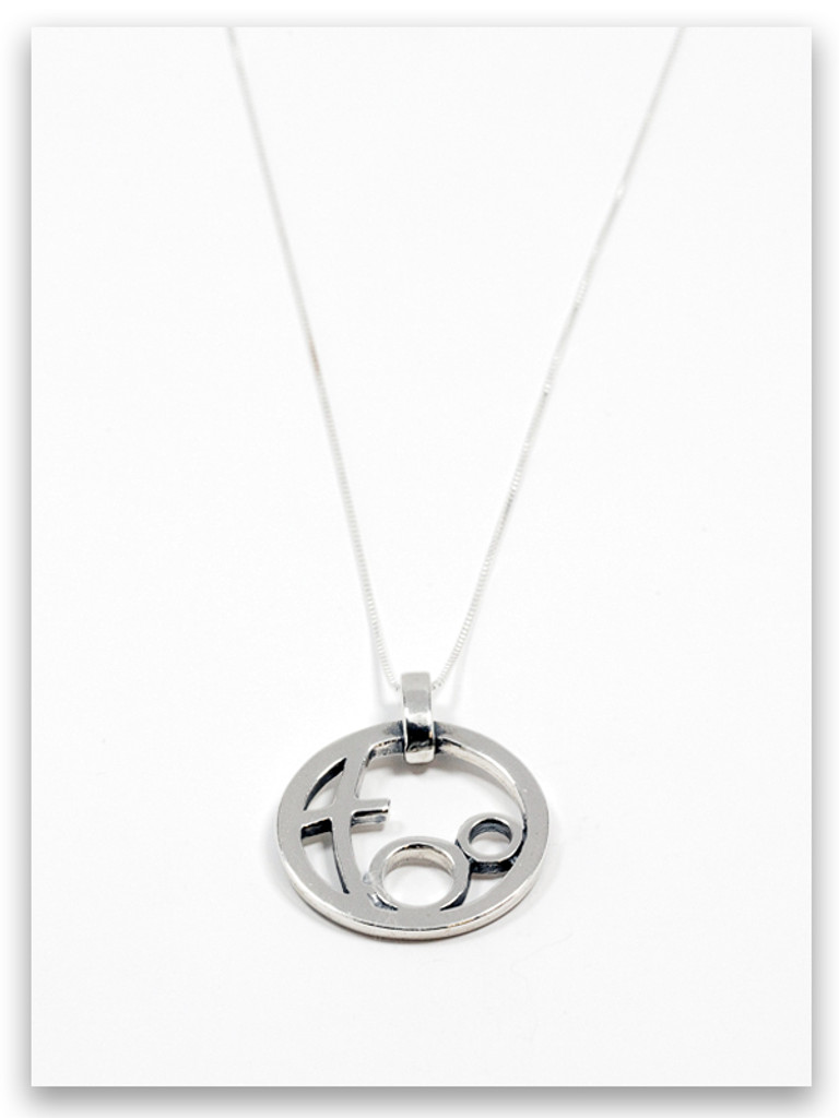 Circle of Love Sterling Silver Grandmother Pendant Necklace- 2 Grandchildren