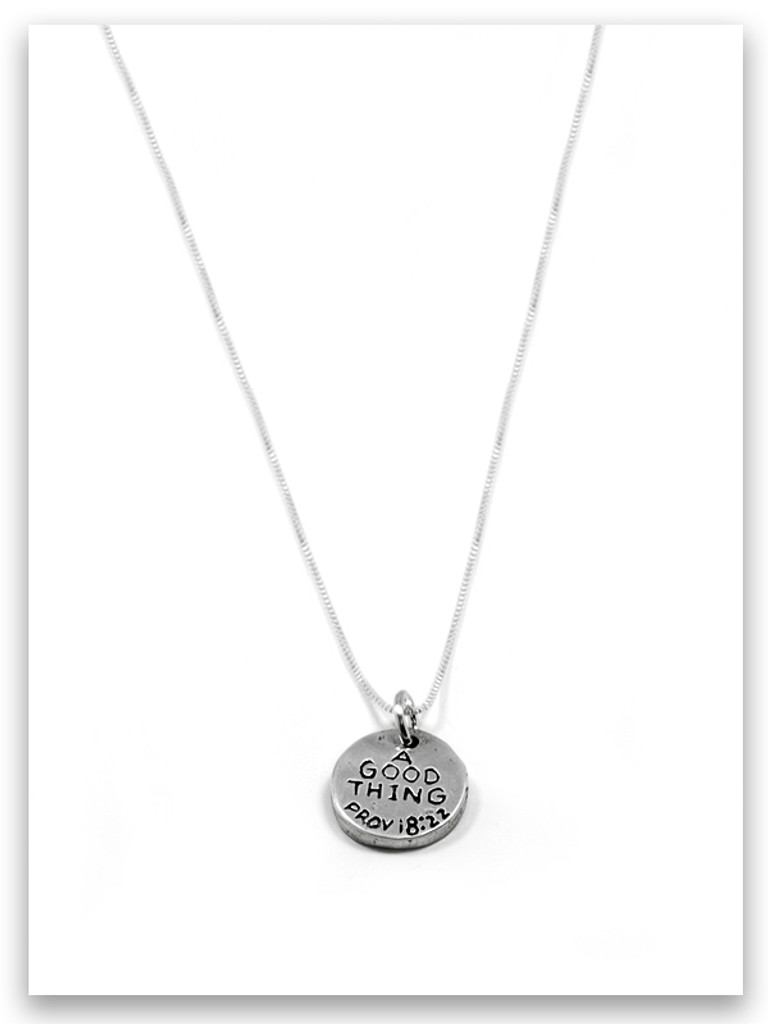 A Good Thing iTAG Sterling Silver Necklace