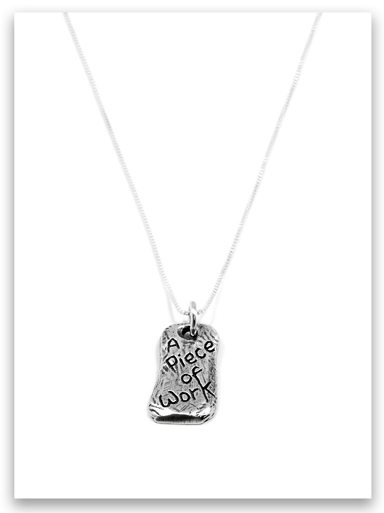 A Piece of Work iTAG Sterling Silver Necklace