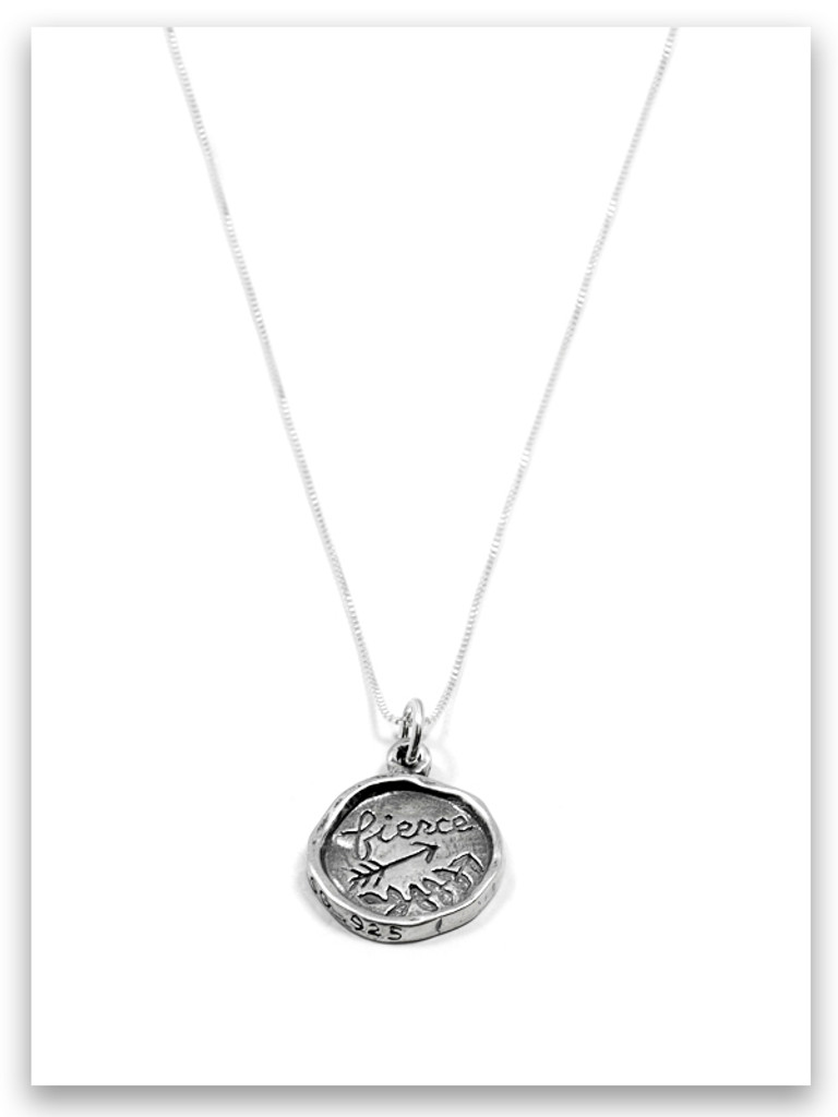 Fierce iTAG Sterling Silver Necklace