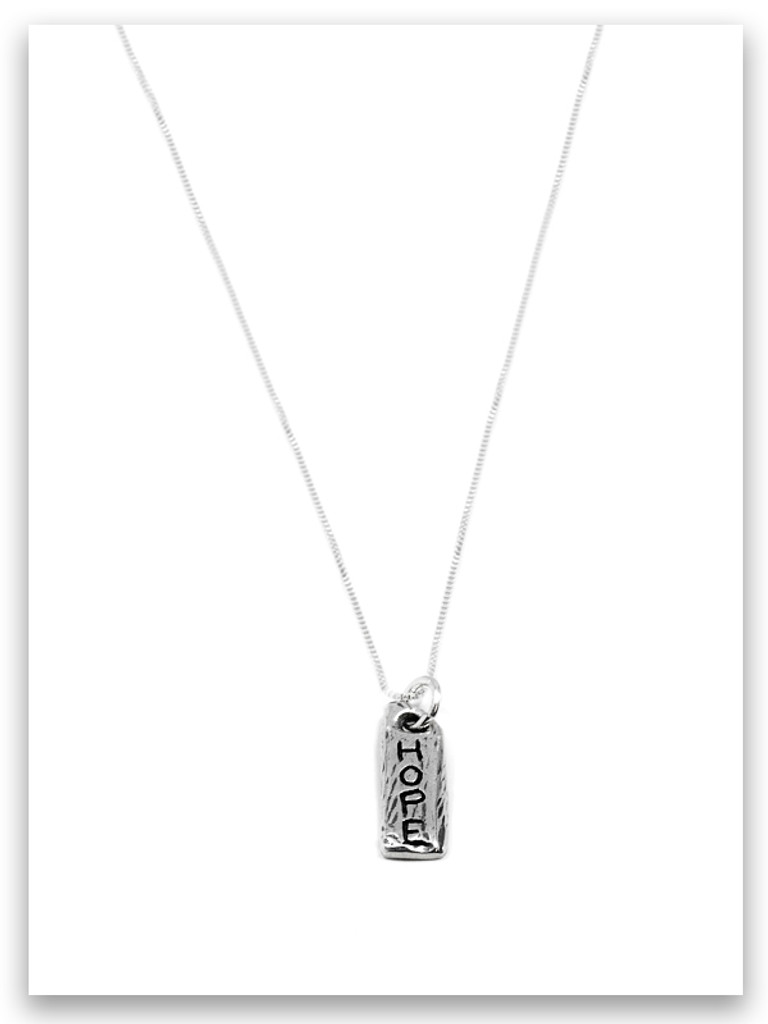 Hope iTAG Sterling Silver Necklace