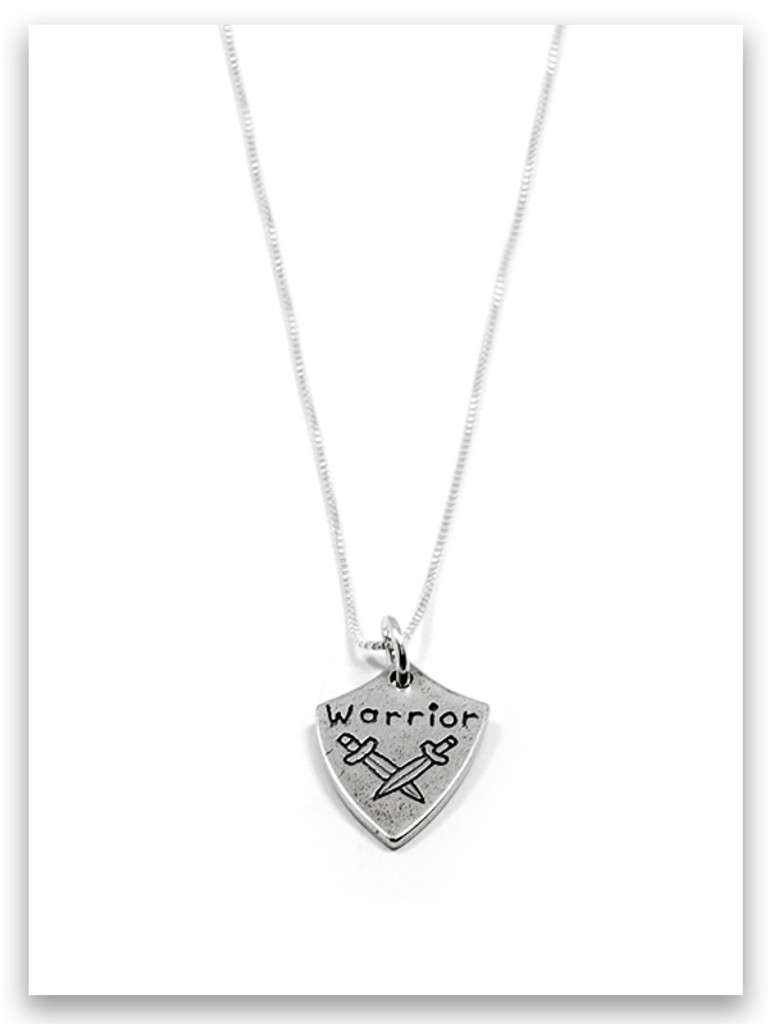 Warrior iTAG Sterling Silver Necklace