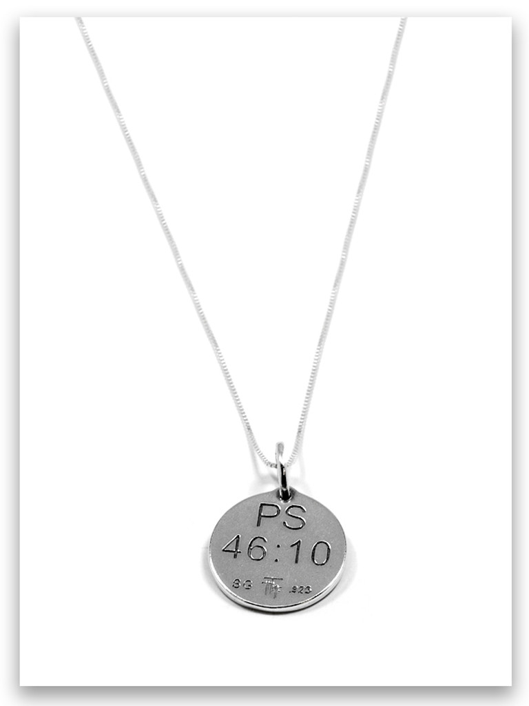 Be Still Sterling Silver Necklace