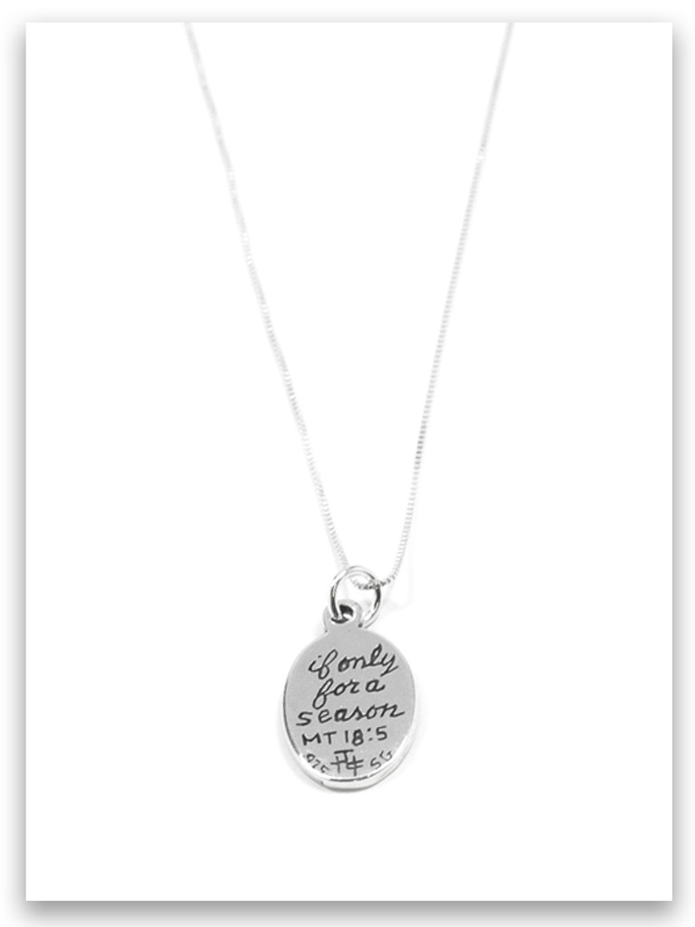 Foster Care Sterling Silver Charm Necklace