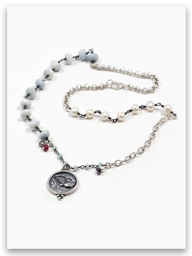 Angel Pearl Messenger Necklace