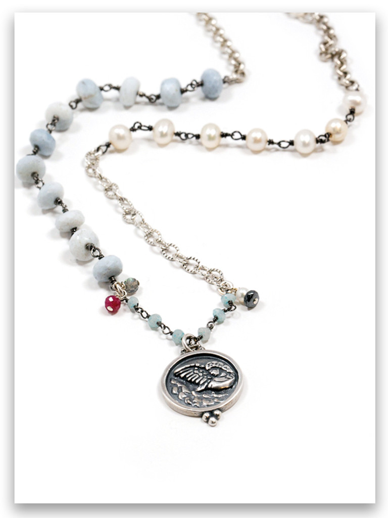 Angle Messenger Pearl Necklace