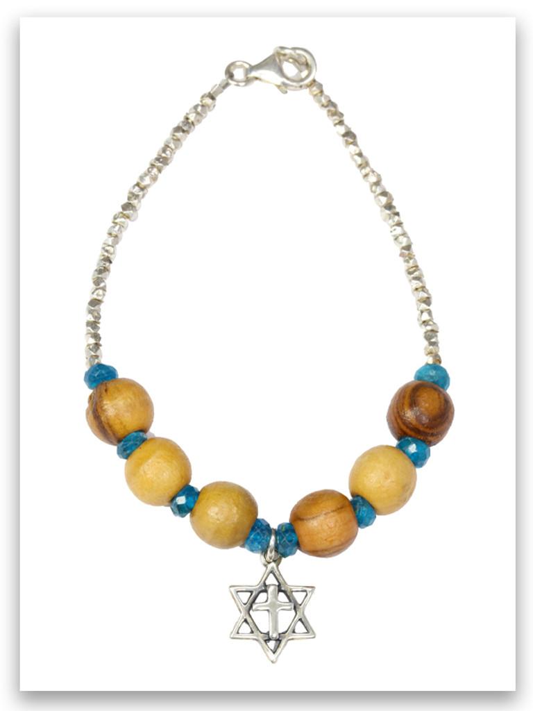 Star of David Olive Wood Bracelet