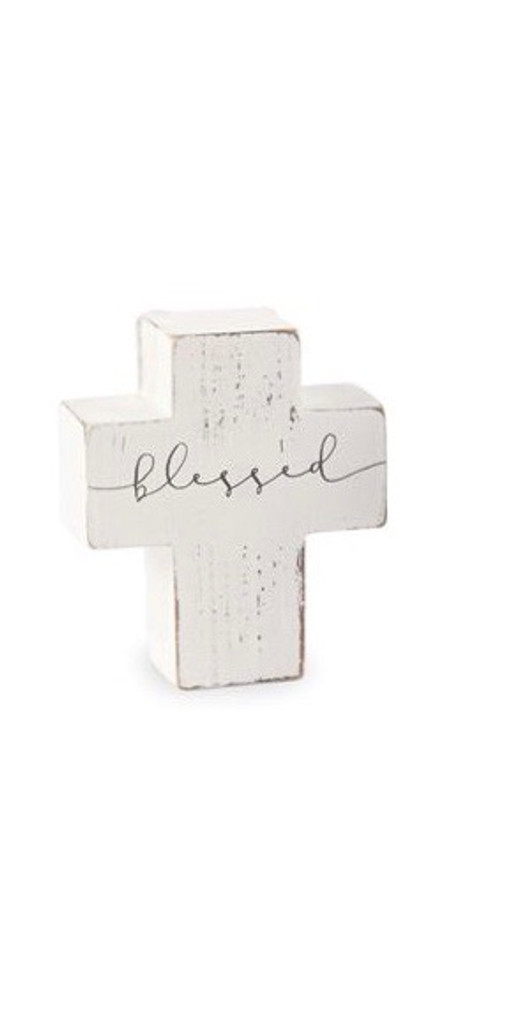 Blessed Small Wooden Cross Sitter