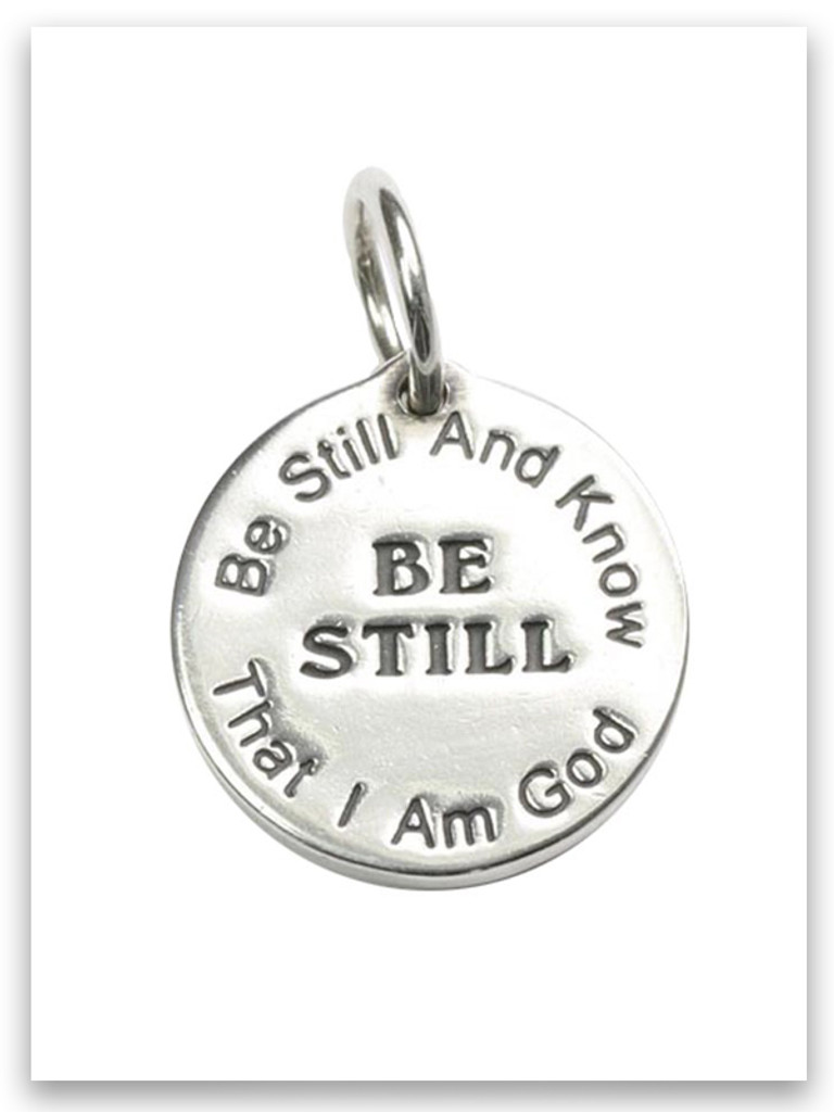 Sterling Silver Be Still Charm