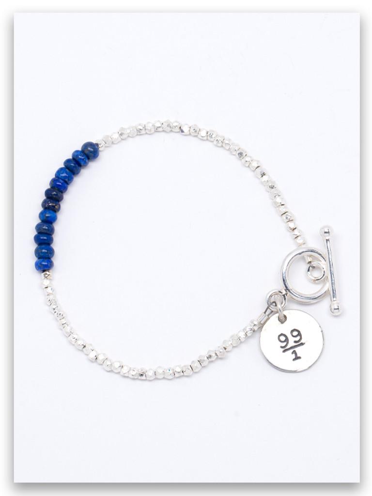 99/1 Lapis Hammer Silver Bracelet