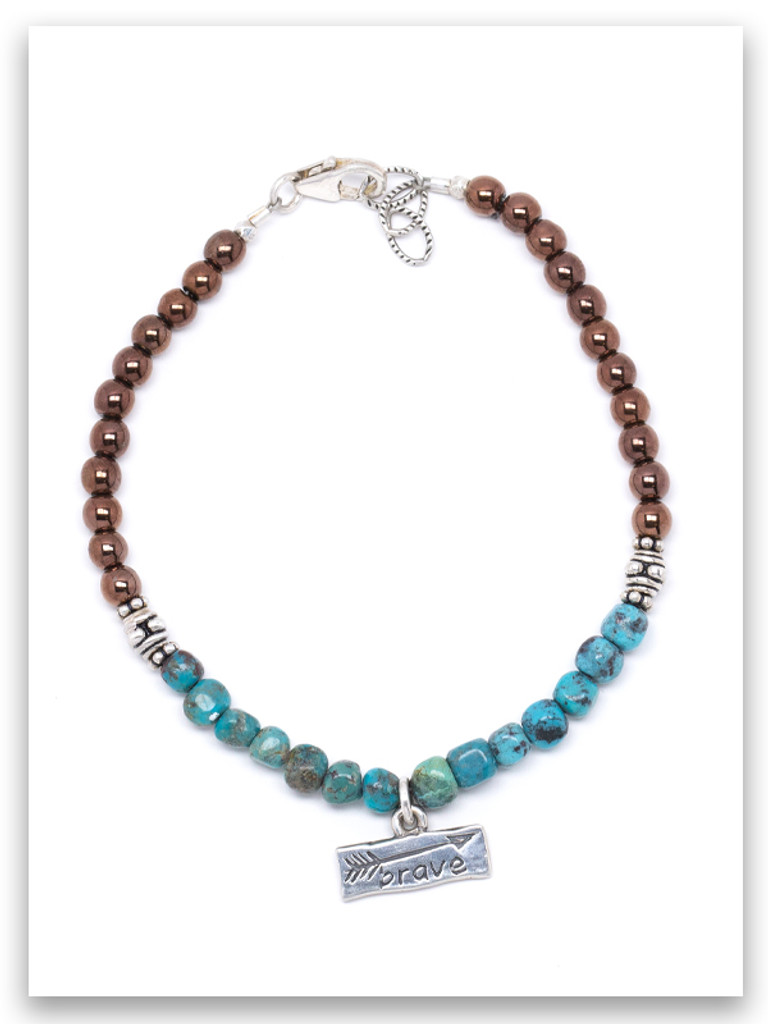 Brave Copper and Turquoise Bracelet