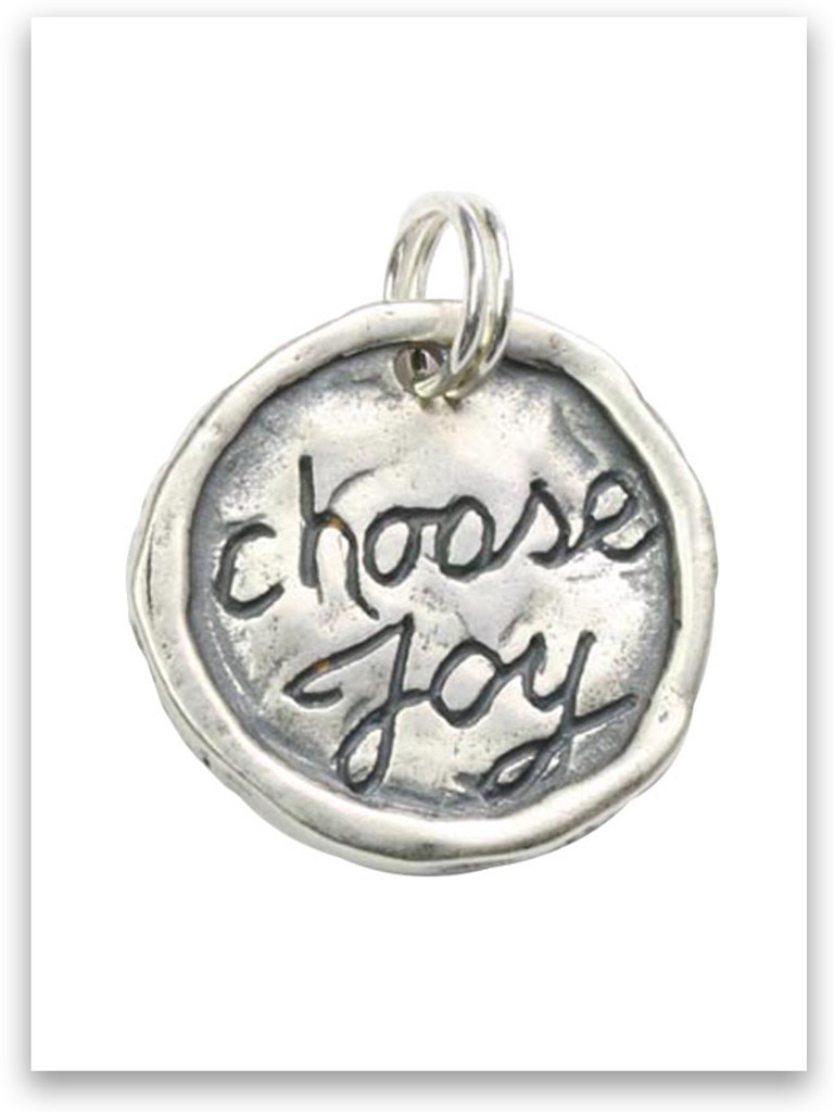Sterling Silver Choose Joy Charm