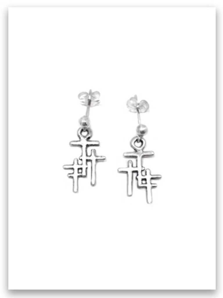 Trio Cross Petite Post Earring