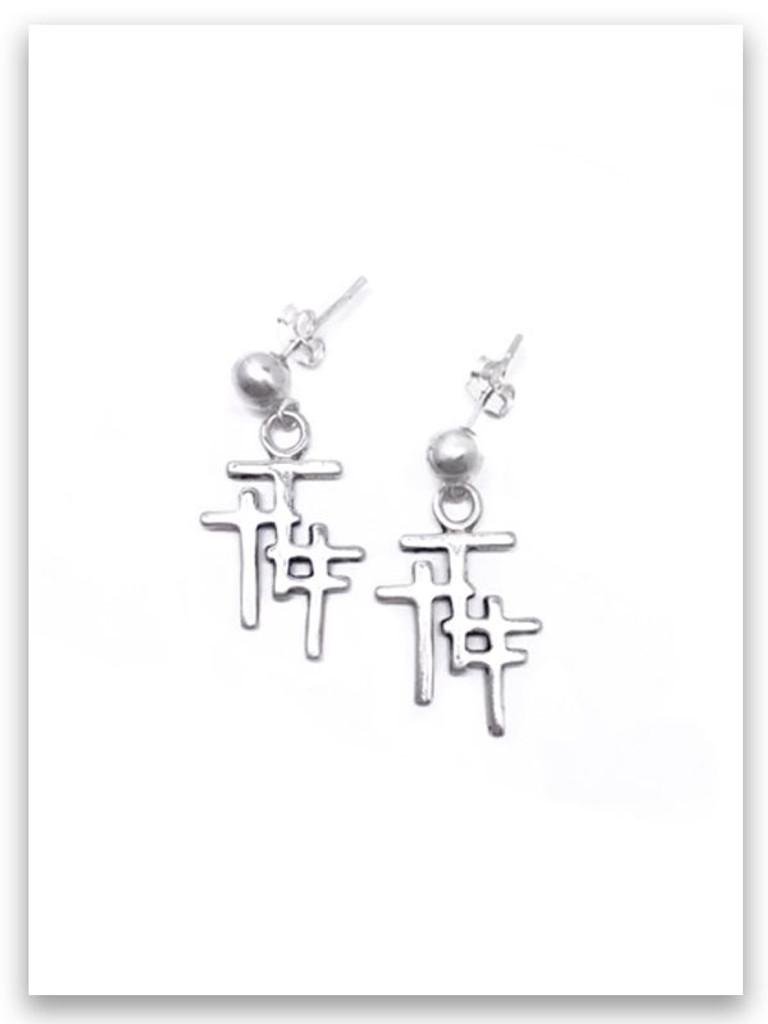 Trio Cross Post Earring