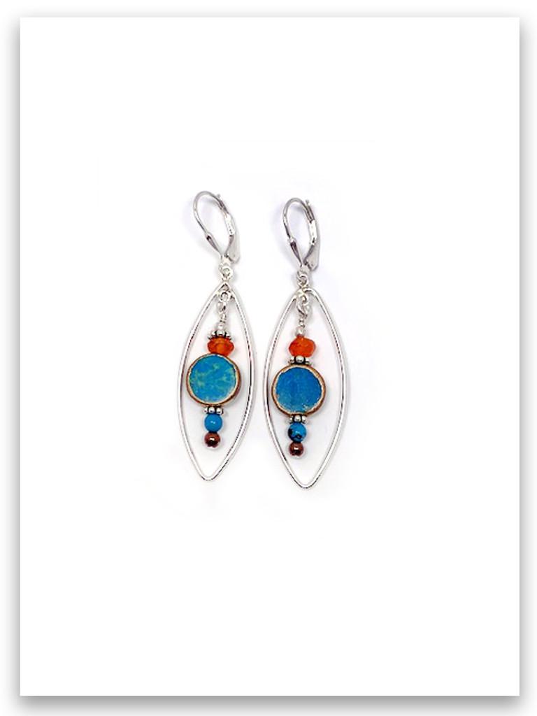 Oval-Turqouise Earrings