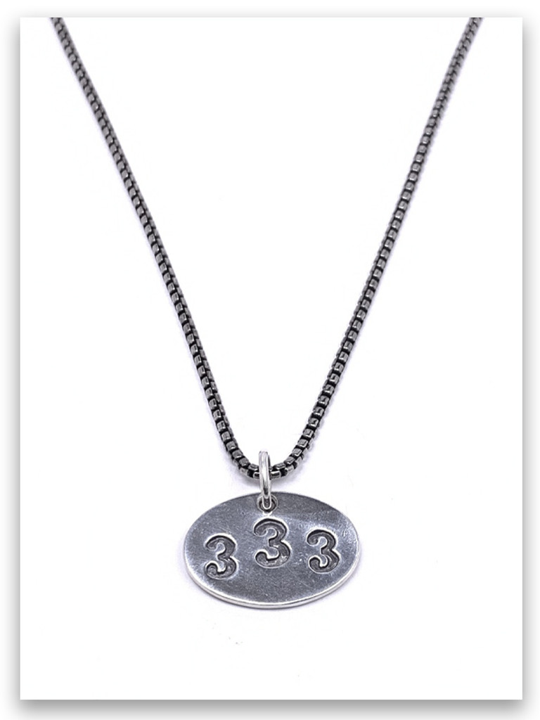 333 Jer 33:3 Necklace w/Medium Box Chain