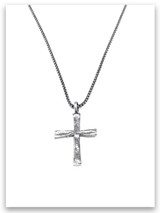 Power of God Cross w/Medium Box Chain