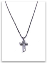 Rock Bottom Cross w/Medium Box Chain for Men