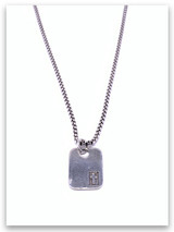 Rescued Mens Christian Necklace w/Heavy Box Chain Sterling Silver