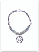 Peace of the LORD Silverite stone bracelet