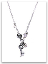 Key w/Sterling Chain, Pearl Necklace