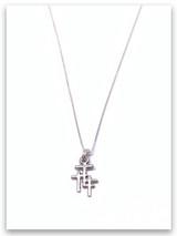 Trio Cross Grace Kid's Charm Necklace