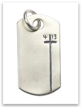 Sterling Silver Dog Tag Philippians 4:13 Pendant
