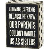 God Made Us Friends Box Sign
