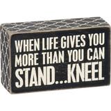 Kneel Box Sign