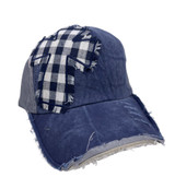 CROSS ON DISTRESSED NAVY AND GREY HAT