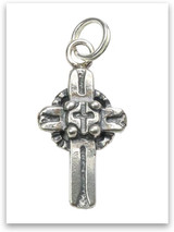 Sterling Silver Friendship Cross Charm