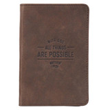 All Things Are Possible Pocket-sized Journal