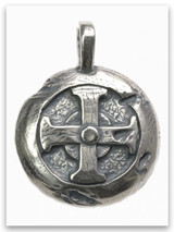 Hoplon Shield Sterling Silver Pendant