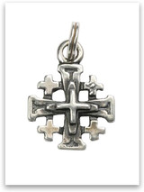 Sterling Silver Jerusalem's Cross Charm