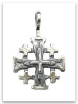 Sterling Silver Jerusalem Cross Small Pendant