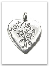 Mother Son Sterling Silver Pendant