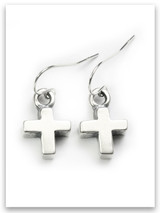 Bold Faith Cross Earrings