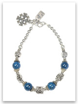 Eilat Stone Jerusalem Cross Bracelet