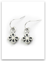 My Strength Sterling Silver Cross Earrings