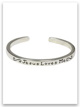 Jesus Loves Me Sterling Silver Infant Bracelet John 3:16