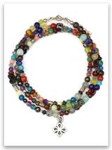 Stones Cry Out Multi Stone Triple Wrap Bracelet
