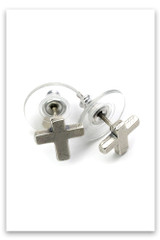Bold Faith Cross Studs